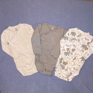 Carters snap-side bodysuits